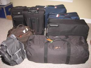 Our life in suitcases.