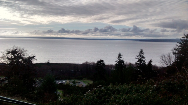 Christmas Day overlooking Puget Sound